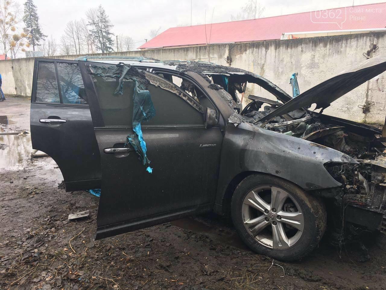 Рівненські рятувальники опублікували фото з місця пожежі автівки (ФОТО) , фото-1