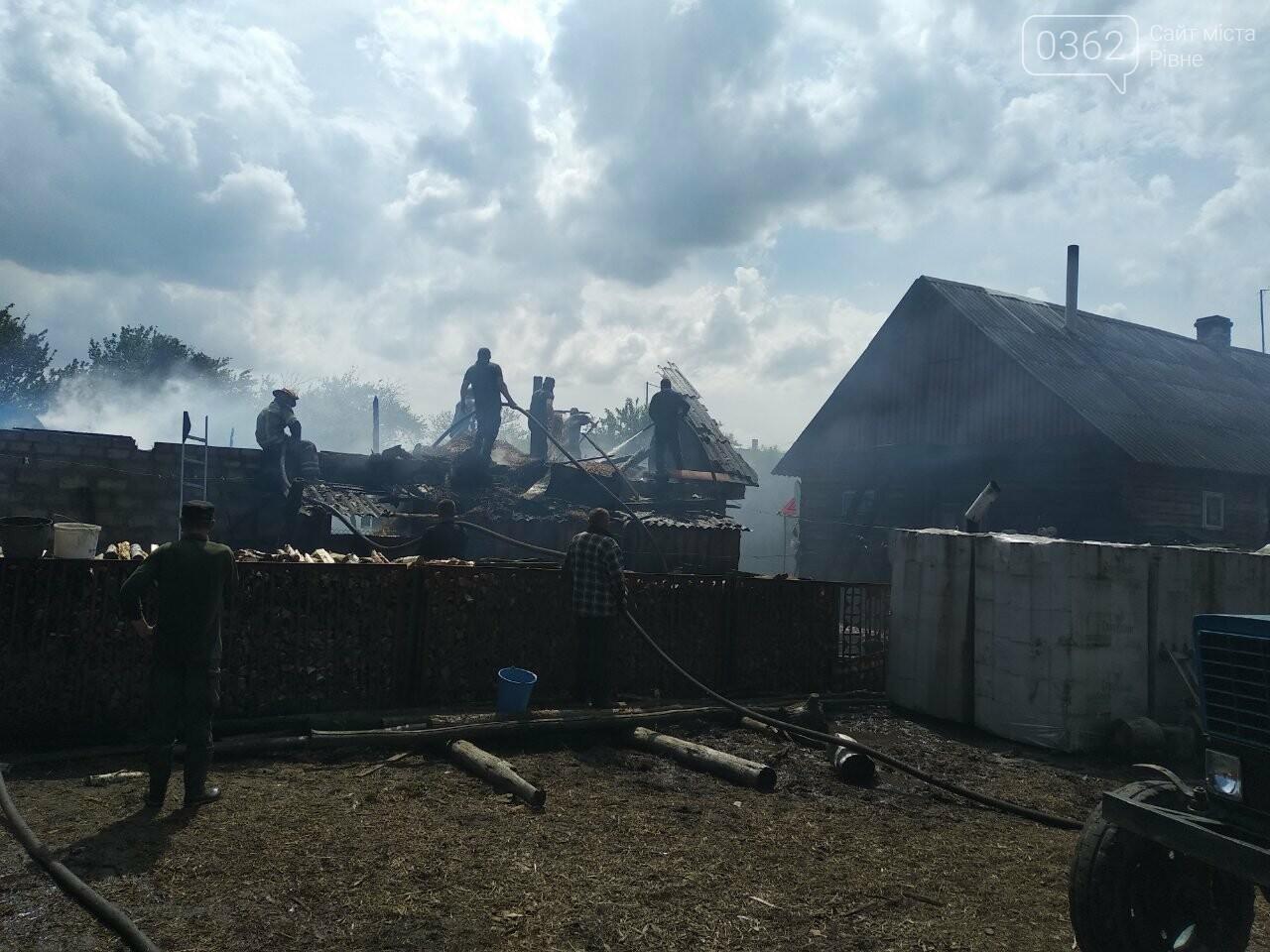 На Сарненщині загасили пожежу у господарчій будівлі та врятували житловий будинок (ФОТО), фото-1