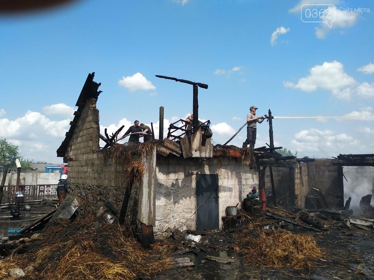 На Сарненщині знову пожежа в господарчій будівлі (ФОТО), фото-1
