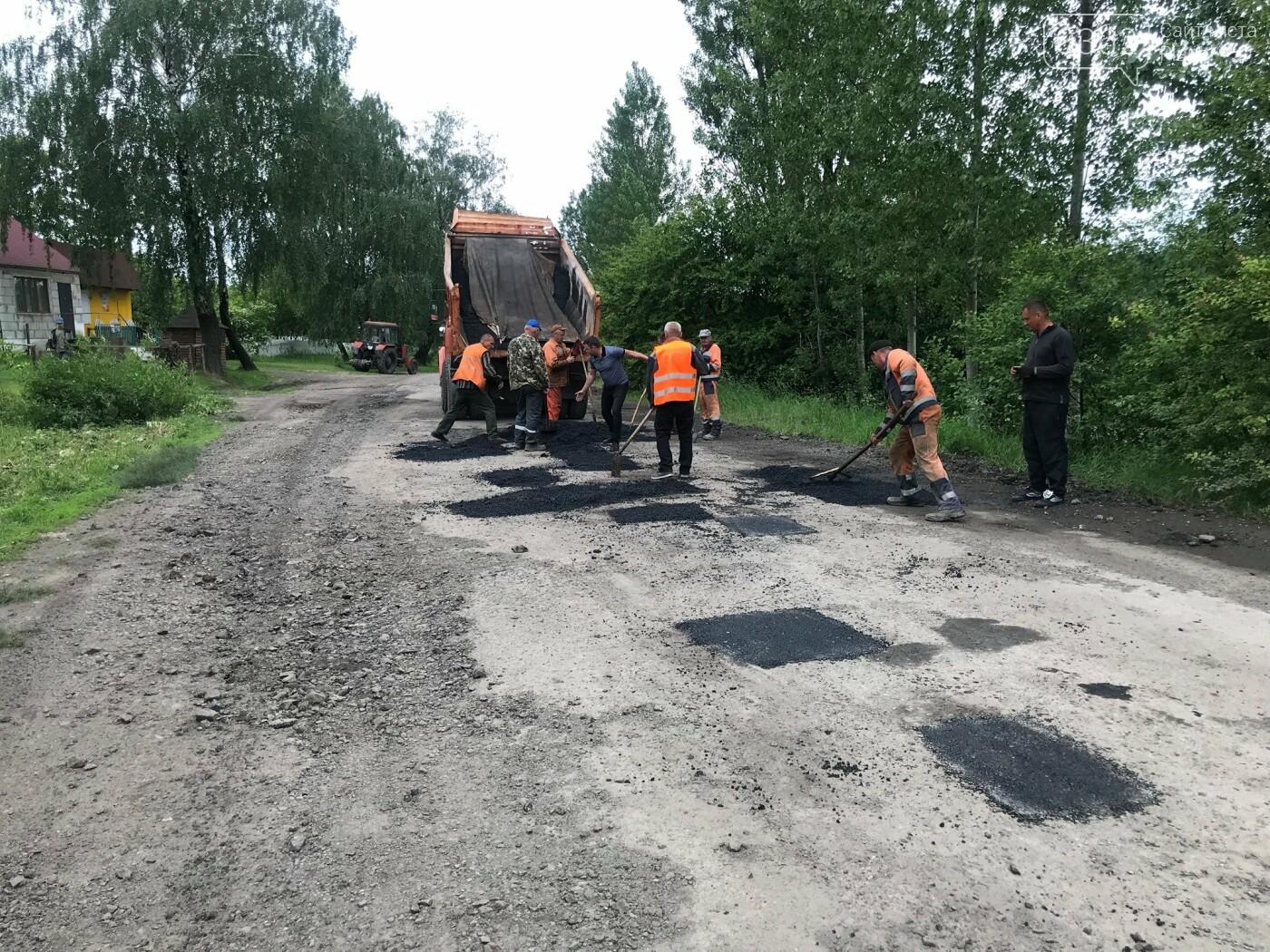 На Дубенщині дорожники роблять ямковий ремонт дороги Т-0303 (ФОТО), фото-1
