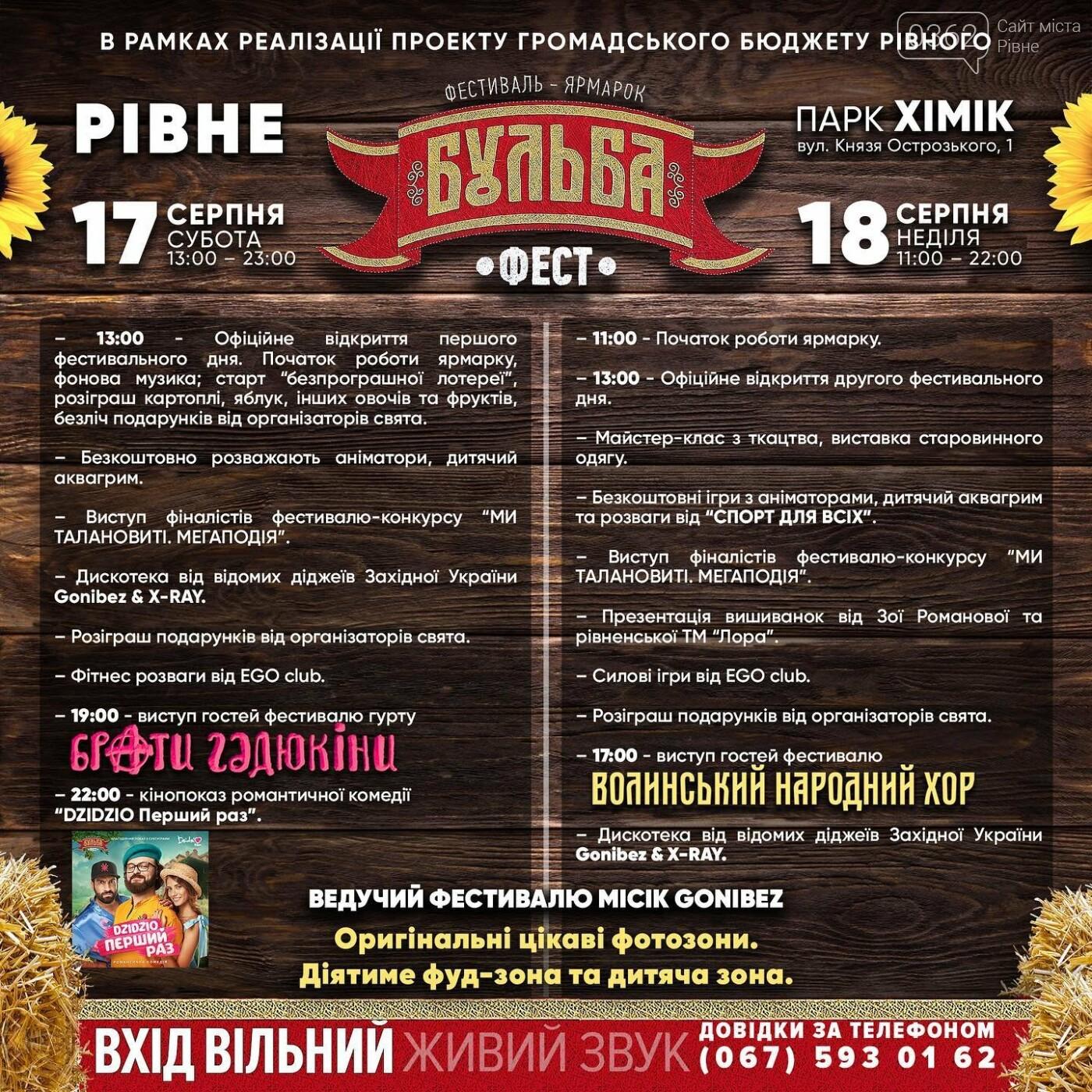 Програма рівненського фестивалю-ярмарку «Бульба-Фест»  , фото-1