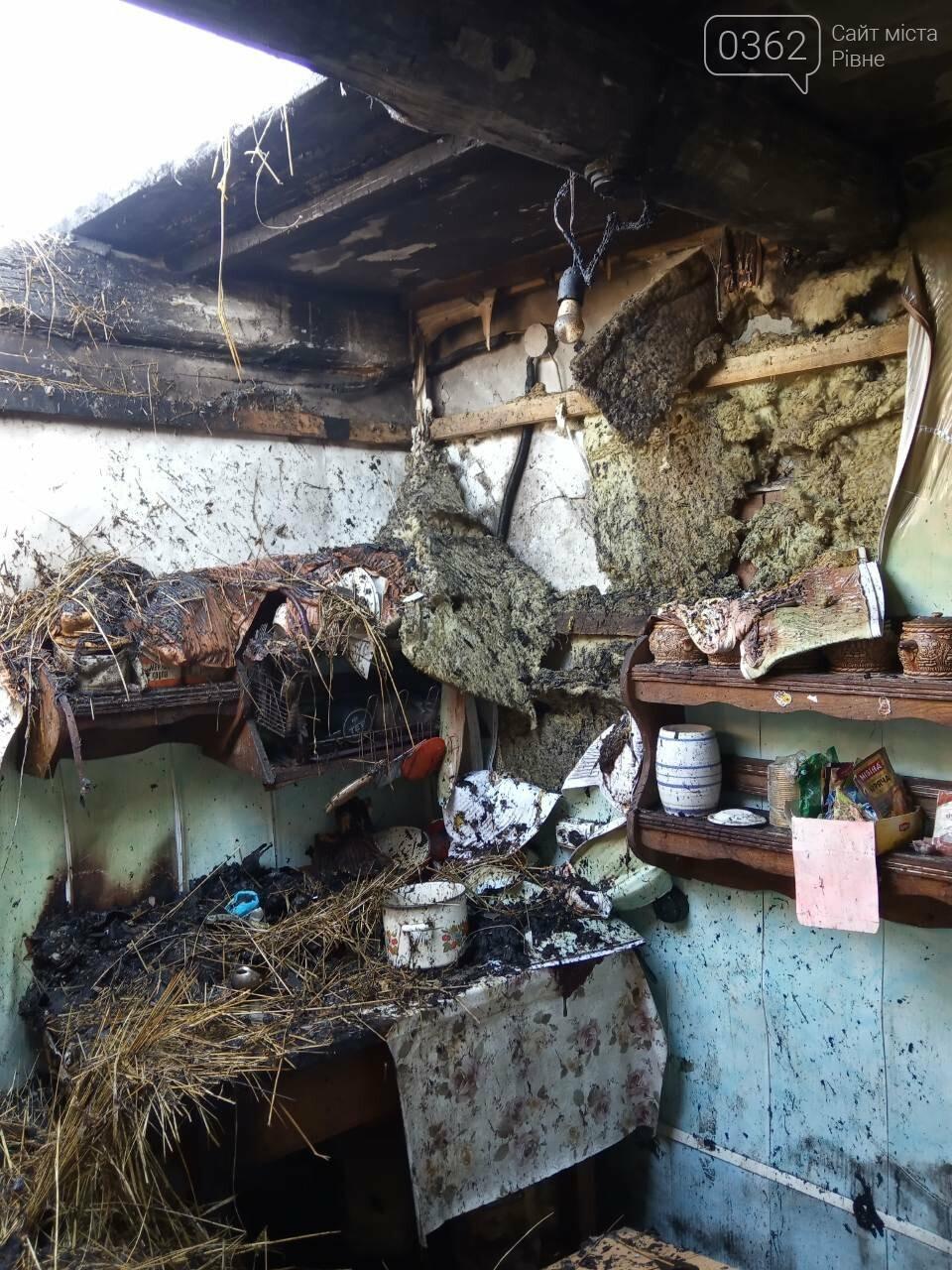 На Рівненщині родина через пожежу залишилася без даху (ФОТО) , фото-2