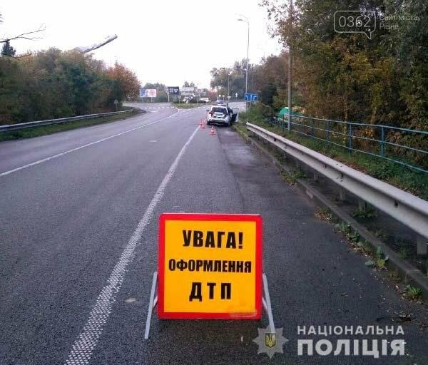 Поблизу Дубна бензовоз влетів у кювет (ФОТО), фото-1