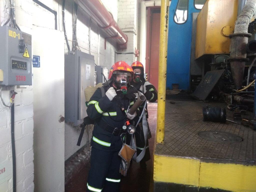 Рятувальники з охорони Рівненської АЕС ліквідували умовну пожежу (ФОТО) , фото-1