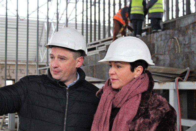 Як проходить будівництво спорткомплексу на Макарова, з'ясовувала заступниця голови РОДА, фото-7