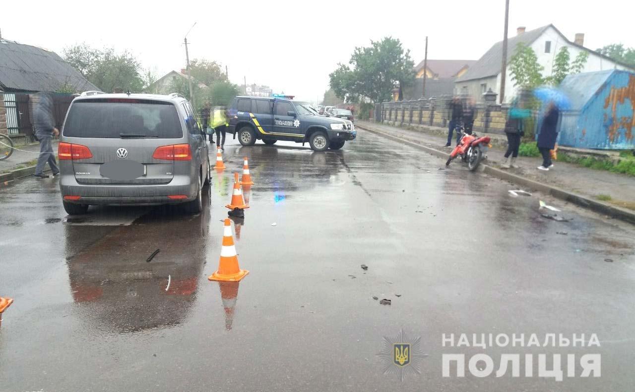 На Володимиреччині - ДТП: юний мотоцикліст у лікарні (ФОТО), фото-1