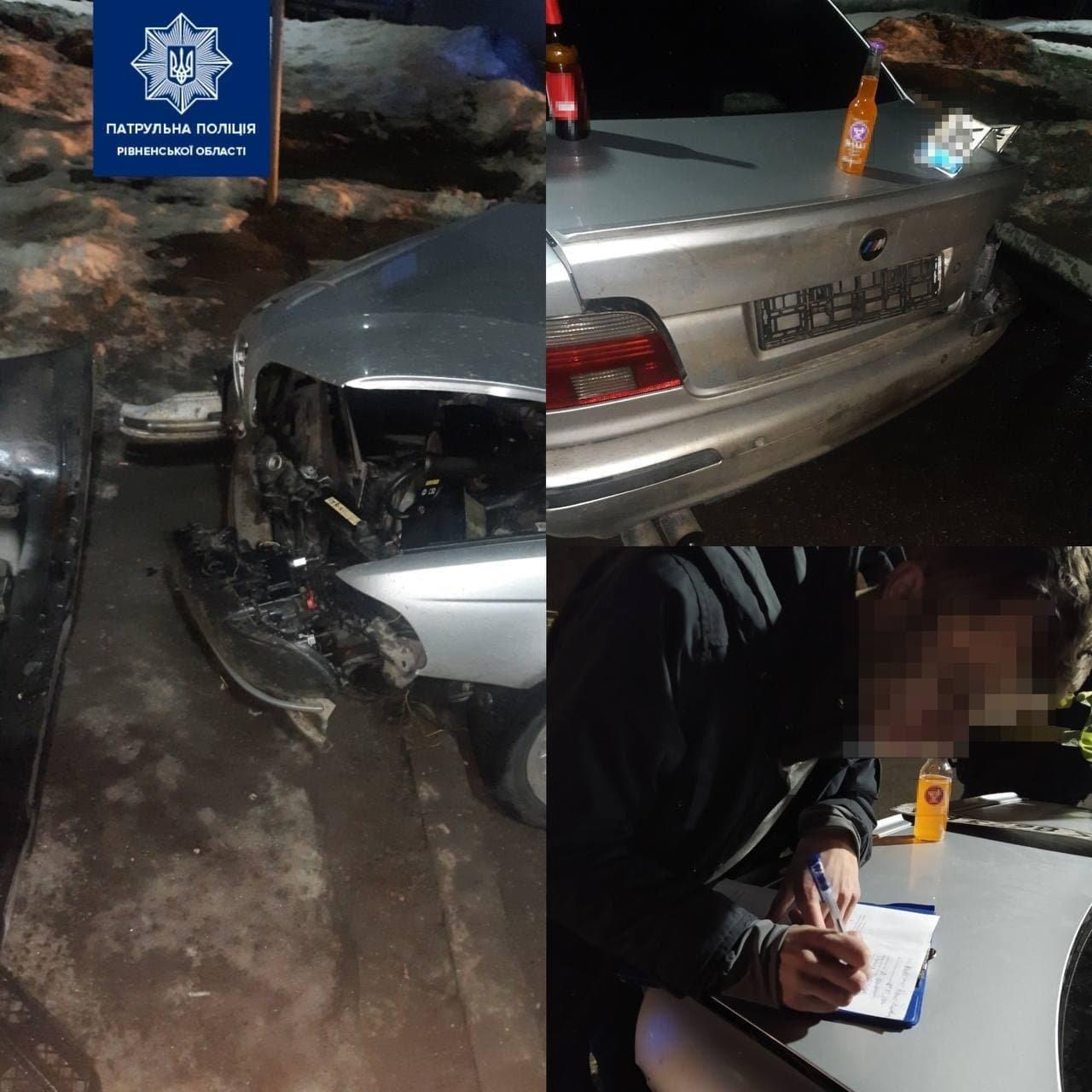 Нетверезий водій скоїв ДТП на міжнародній трасі на Рівненщині (ФОТО), фото-1