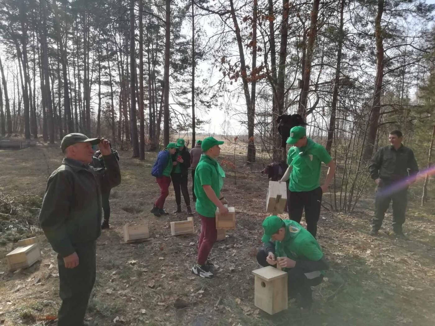 У Костополі лісівники разом з учнями зробили для птахів шпаківні (ФОТО), фото-2
