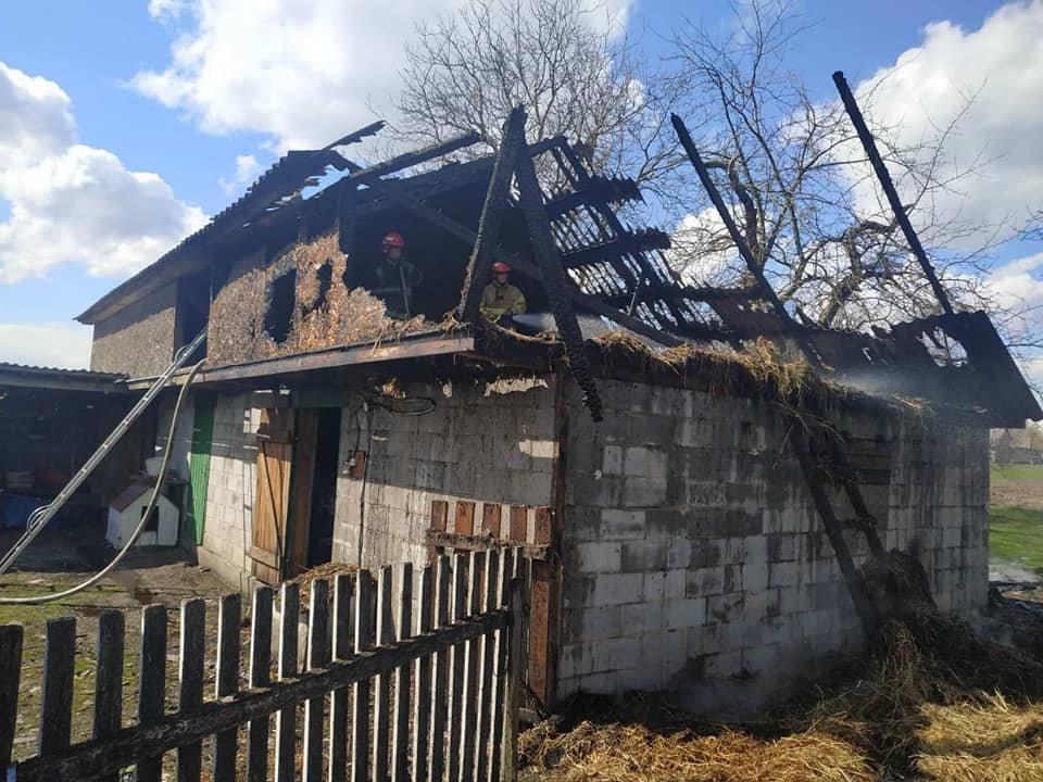 На Кореччині в одному з сіл згоріла стріха сараю (ФОТО) , фото-1