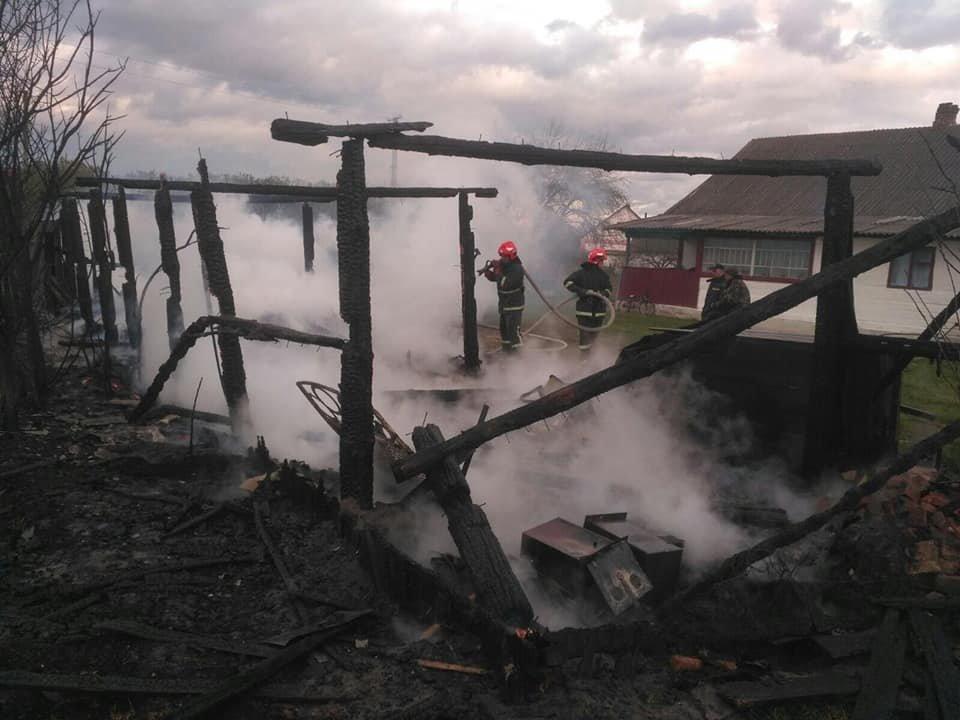 Залишилися самі пеньки: на Рокитнівщині в місцевих мешканців ущент згорів сарай (ФОТО), фото-1