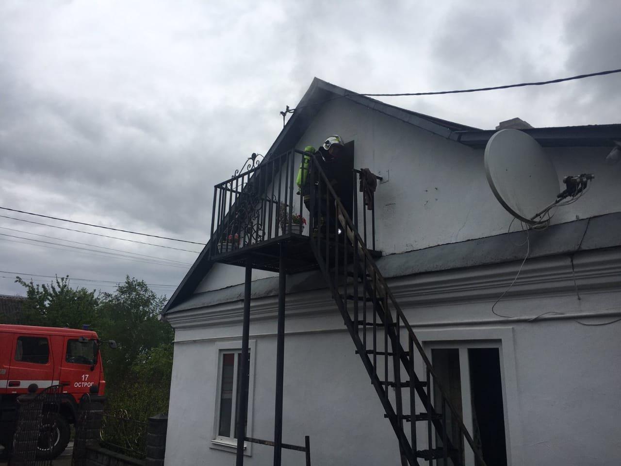 У селі в Острозькій громаді спалахнув житловий будинок, фото-1