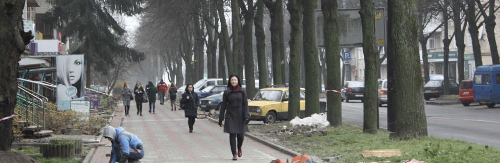 У Рівному завершують ремонт вулиці Степана Бандери за майже півтора мільйона